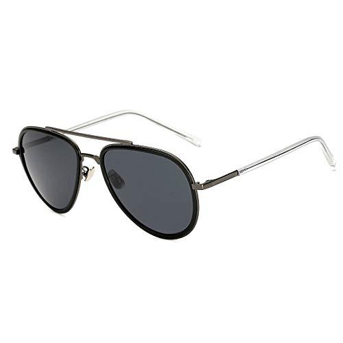 Metall polarisierte vielseitige Sonnenbrille Brille gut aussehende Männer Mode Sonnenbrillen Brille (Color : 01Dark Sliver, Size : Kostenlos)
