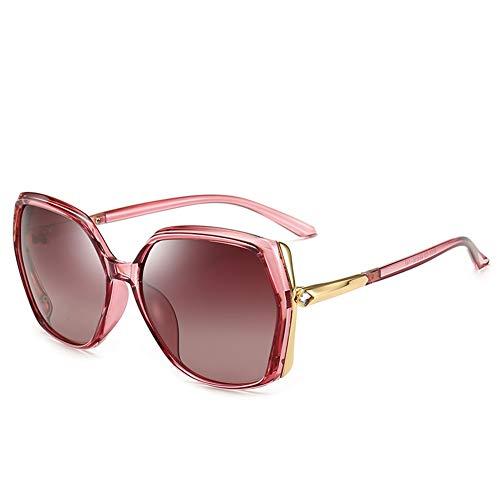 Thirteen Sonnenbrillen Weiblichen Großen Rahmen Polarisierten Sonnenbrillen Anti-UV Fahrspiegel, Geeignet Für Dekoration, Einkaufen, Reisen, Geeignet Für Eine Vielzahl Von Gesichtstypen.