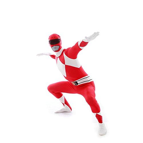 Power Ranger Morphsuit Kostüm große Zentai Anzug Cosplay Kostüm für Festivals (Red Power Ranger Kostüm) (XXL 6