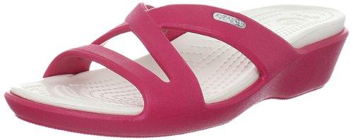 Criss Cross Wedge Sandal (crocs Patricia II 11661-65L-460, Damen Slipper, Pink (Raspberry/Oyster 65L), EU 38/39)