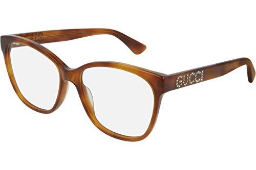 Gucci GG0421O Brillen 55-16-140 Havana Braun Mit Demonstrationsgläsern 004 GG 0421O