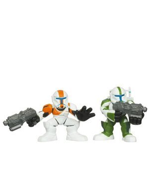 Star Wars Galactic Heroes Playskool Republic Commando Fixer und Republic Commando Boss 94763