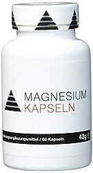 YPSI Magnesium Kapseln/Komposition aus 3 verschiedenen Magnesiumformen, aspartat, Tri-Citrat und Bis-Glyzinat/525mg pro Kapsel