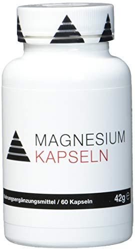 YPSI Magnesium Kapseln/Komposition aus 3 verschiedenen Magnesiumformen, aspartat, Tri-Citrat und Bis-Glyzinat/525mg pro Kapsel -