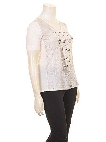 T-Shirt mit Print in rot in Übergrößen (XL) von Zizzi Weiß