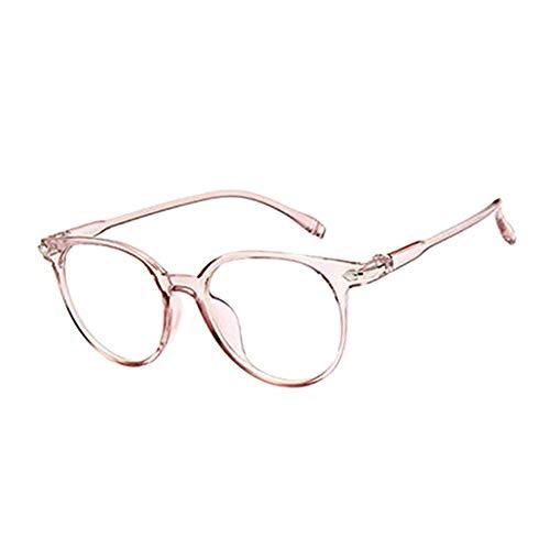 Vikenner Damen Herren Brillengestell Sonnenbrille Rahmen Dekorative brille Rahmen Literarische Brillengestell Hellrosa