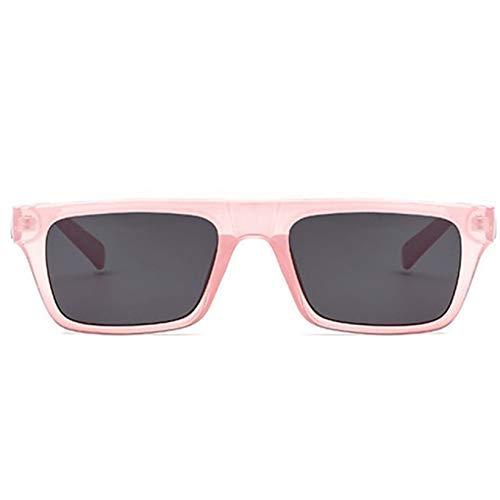 ZHAS High-End-Brille Rechteck-Sonnenbrille Männer Frauen Vintage Flat Top Shades Sonnenbrille Weiblich Männlich Rot Rosa Schwarz Eyewear Personalisierte High-End-Sonnenbrille Rosa