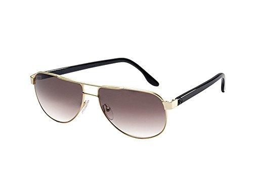 Mercedes-Benz, Sonnenbrille Damen goldfarben / schwarz, matt, Metall / Acetat