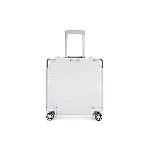 ZN-Suitcase ABS + PC Guscio Duro 4 Muto Ruota Universale 18 Pollici Portatile Trolley Bag con Scomparto per Laptop/Blocco Password TAS/Valigia d'imbarco (40 * 22 * 43 CM)