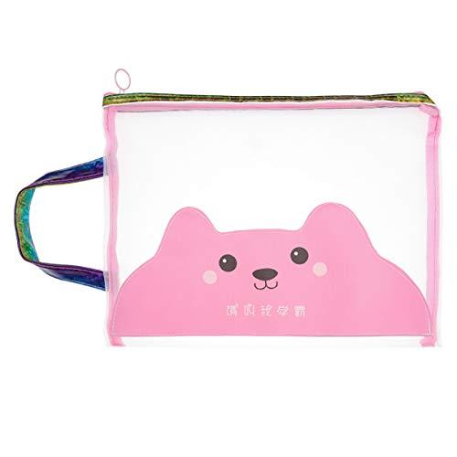 Loparker Useful Mesh Zipper File Bags Documents Makeup Paper Pouch Pocket für Office School Neu(None Cute)