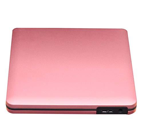 CE-LXYYD Externes Blu-Ray-DVD-Laufwerk, USB 3.0 Blu-Ray-DVD-CD-Brenner-Player CD-RW-Zeilenumschreiber Tragbar Kompatibel für iMac-Laptops Windows 7 8 10,pink