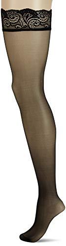 FALKE Damen Matt Deluxe 20 DEN W STU transparente halterlose Strumpfhose, Schwarz (Black 3009), 9.5-10