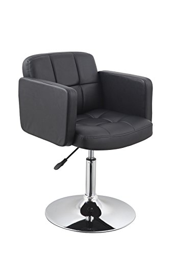 Clubsessel Sessel Kunstleder Schwarz Esszimmerstuhl Lounge Sessel höhenverstellbar drehbar Duhome...