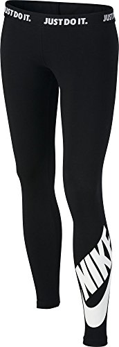 Nike Mädchen Sportswear Leg-A-See Tights, Black/White, M