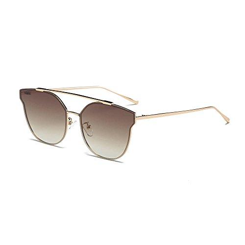 Sonnenbrillen für Frauen Männer Vintage Retro Brille Unisex Fashion Aviator Mirror Lens Sonnenbrille B