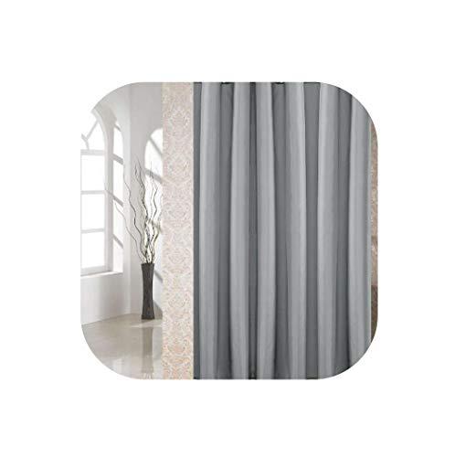 HIGHER-LOVE Duschvorhang wasserdichtes Mildew Proof Home Bad Dekoration, grau, 120x180cm