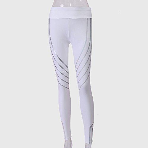 Ulanda-EU - Legging de sport - Femme Noir noir Small Blanc