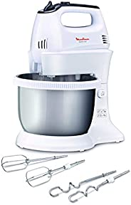Moulinex Hand mixer with stand bowl, egg-white whipping, dough kneading, Quickmix - HM312127,