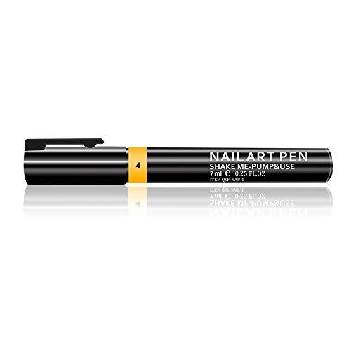 Beashine Penna per Unghie, Matita per Unghie, One-Step Smalto Gel Penna per Unghie 3 in 1 Smalto Semipermanente, 7ml Nail Gel Cambia Colore Penna Gel UV Smalto per Unghie Vernice a Matita(Giallo)