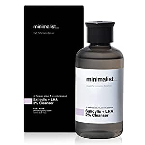 Minimalist 2% Salicylic Acid Face Wash for Oily, Acne Prone Skin (100 ml)   Sulphate free, Anti Acne Face Cleanser With LHA & Zinc For Men & Women