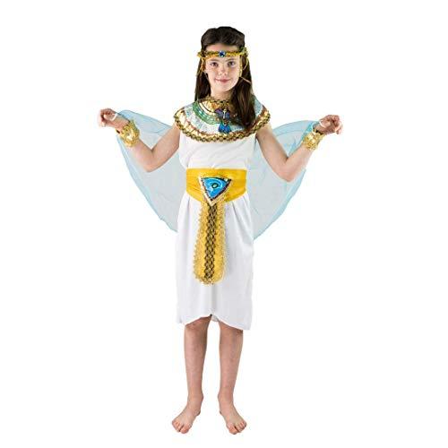 Pharaonen Ägyptische Kostüm - Bodysocks® Ägyptischer Pharao Königin Cleopatra Kostüm für Kinder (7-9 Jahre)
