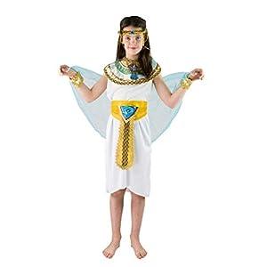 Bodysocks Fancy Dress Disfraz de Emperatriz Cleopatra Faraona de Egipto para Niños (7-9 años)