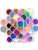 Surepromise - Glitter decorativo per nail art, 45 colori