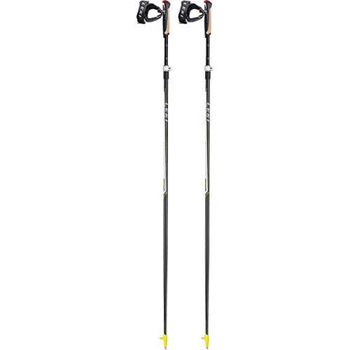 LEKI Kinder Alu Vario CC Ski Stock, Anthracite/White/Yellow/Silver, One Size -