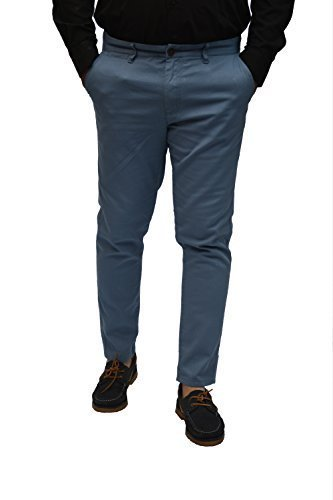 mens-piazza-italia-100-cotton-skinny-chinos-trousers-yellow-cream-navy-brown-coffee-and-blue-30w-28l