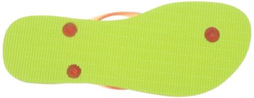 Havaianas Infradito Donna Slim Logo Verde (Lime Green 4185)