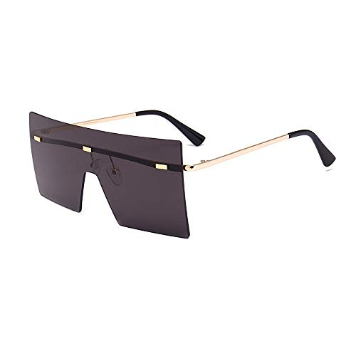 Yiph-Sunglass Sonnenbrillen Mode Herrensonnenbrillen Unregelmäßige Sonnenbrillen Normalerweise sind Uv-Schutzbrillen für neutrale Sonnenbrillen geeignet (Farbe : Schwarz)