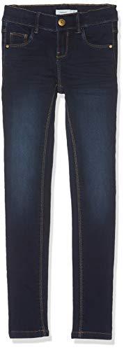 NAME IT NAME IT Mädchen Jeans NKFPOLLY DNMZASCHA 3162 Pant, Blau (Dark Blue Denim), (Herstellergröße:128)