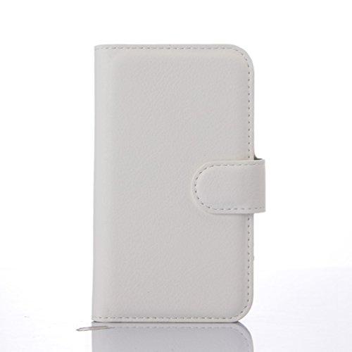 Manyip Téléphone Coque - PU Cuir rabat Wallet Housse [Porte-cartes] multi-Usage Case Coque pour pour Alcatel One Touch D3 OT4035X Classique Mode affaires Style(JFC3-10) D