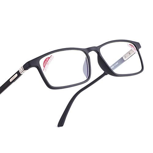 Ultraleicht The Reading Glasses Company Schwarze Leser Große Brillenform Herren, Mattschwarz (Grad 1 bis 3,5)