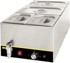 31PwV19amOL - Buffalo Bain Marie with Pans 2x1/3GN and 2x1/6GN/ Tap, 150mm