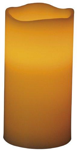Beco 883.00 - Lámpara LED con forma de vela (7,6 x 15,2 cm, incluye 3 pilas AAA), color naranja