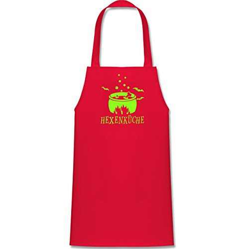 Kleine Köche & Bäcker - Hexenküche - 60 cm x 50 cm (H x B) - Rot - X978 - Kinder Kochschürze