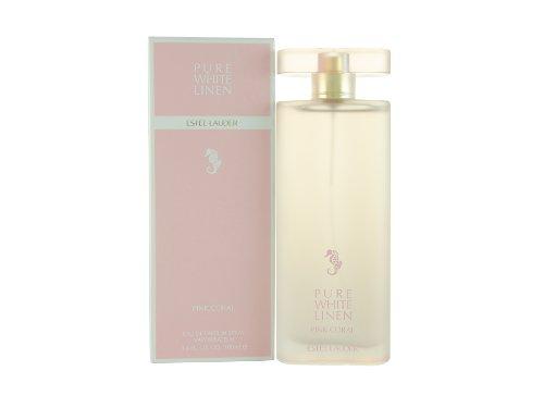 Estee Lauder Pure White linen Décoration rose corail 100 ml Eau de Parfum Spray pour vous, 1er Pack (1 x 100 ml)