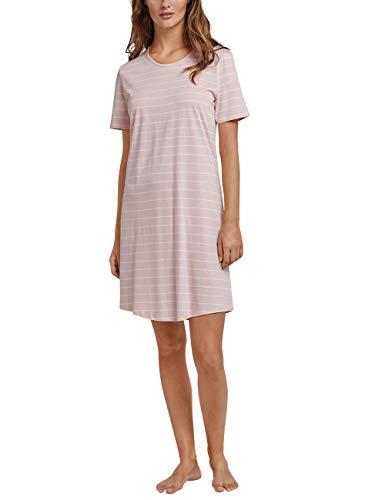 Schiesser Damen Negligee Sleepshirt 1/2 Arm, 90cm, Gelb (pfirsich 612), 52