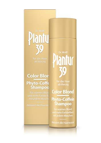 Plantur 39 Color Blond Phyto-Coffein-Shampoo 1 x 250 ml - Für warmes Blond bei jedem Waschen | Gegen menopausalen Haarausfall