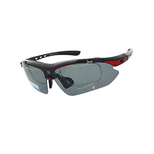 Bestehen Sie immer auf Erfolg Radfahren Brille Fahrrad Farbwechsel Brille Erwachsene Outdoor Brille Geeignet für Outdoor-Radsportliebhaber (Color : Red)