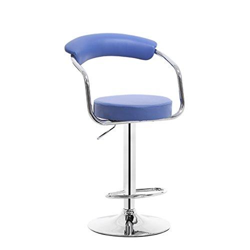 LI JING SHOP - Chaise élévatrice Tabouret à dossier réglable Chaise à manger moderne Plaquage simple Tourner Tabouret de bar ( Couleur : Bleu )