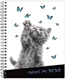Exacompta Cahier de textes spiralé Funny Pets chat «Check my hand»