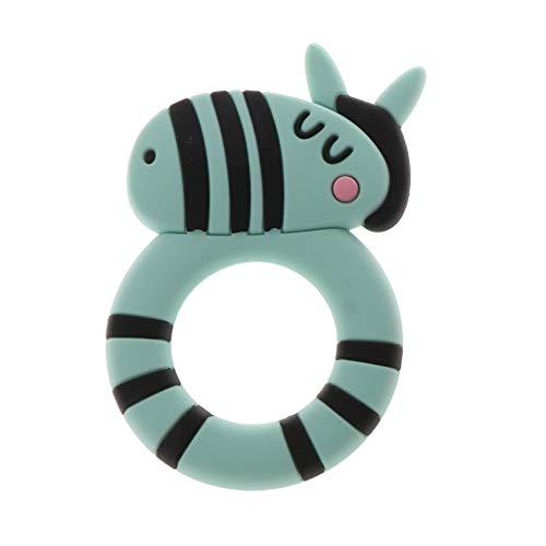 WDTong Zebra Multi-Textured Früher, Soft & Beruhigend, Easy-Hold, Silikon-Beißring Für Neugeborene, Kleinkind-Beißring In Appetitanregenden Farben Multi Zebra
