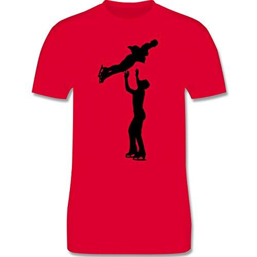 Wintersport - Eiskunstlauf Paarlaufen Eiskunstläufer - Herren Premium T-Shirt Rot