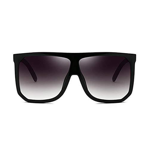 WWVAVA Sonnenbrillen Vintage Sun -GläserUV400 Quadrat -Marken -Entwerfer -große Feld -Frauen -SonnenbrilleGradient, c8