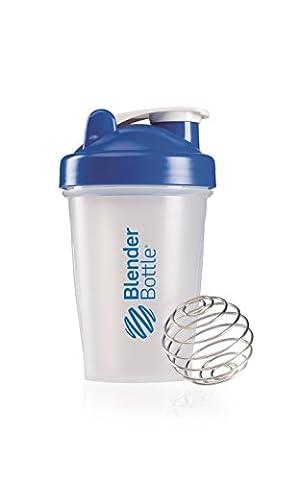 Blender Botte Classic - Protéine Shaker / Bouteille d'eau Bleu Transparent 590 ml