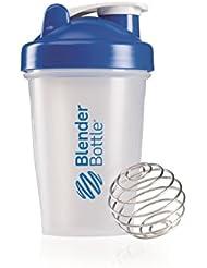 BlenderBottle Classic - Botella de agua y mezcladora, color azul-transparent, 590 ml