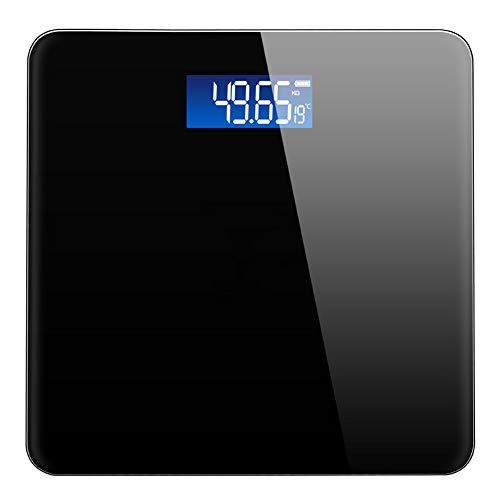 XMUEI Wiederaufladbare elektronische Waagen genau Home Human Adult Health Gewichtsverlust Skalen genau 11x11x0,9 Zoll (Color : Black)