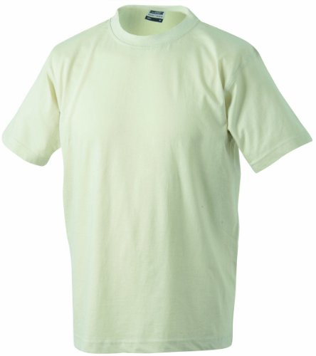James & Nicholson Herren Kurzarm Shirt Beige (Stone)